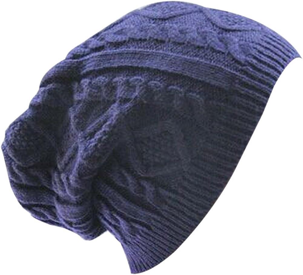 EUBUY Women Lady Twist Knit Crochet Baggy Beanie Beret Winter Warm Cap Hat