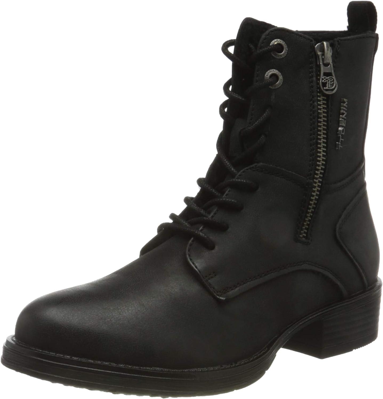 TOM TAILOR Women's 9095704 Mid Calf Boot, Black, 7.5 US