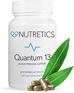 Nutretics Quantum 13, High Blood Pressure Supplement - Lower BP/Hypertension and Cholesterol Naturally w/ Vitamins, Herbs - Hawthorn Berry, Garlic, Antioxidants for Cardiovascular Health - 60 Count