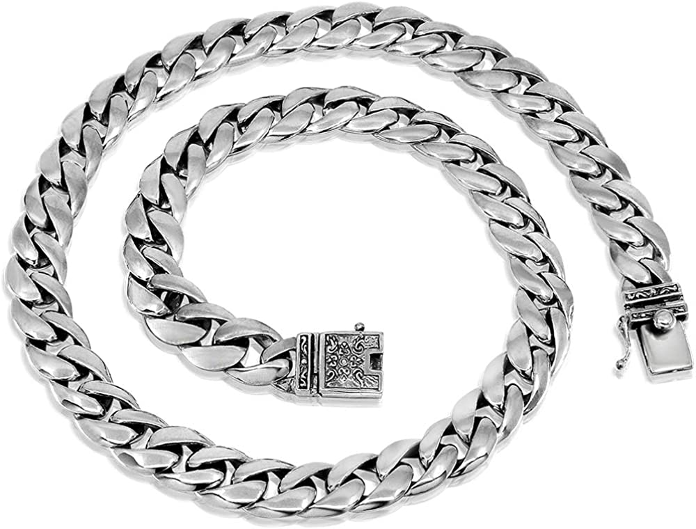 High Class Chain 925 Sterling Silver Men Necklace - Made in Thailand – 18 |  Amazon.com