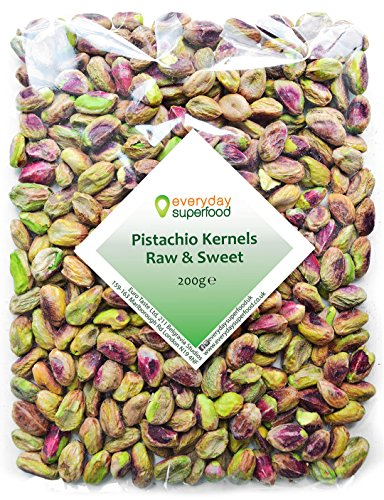 Pistachio Nuts Kernels 200g Grade No.1 Raw Shelled Pistachios Unsalted Pistachio Nut Kernals Ideal for Pistachio Snacks or Desserts Cakes & Pudding an Everyday Superfood