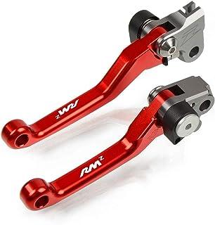 YSMOTO CNC Billet Pivot Pliable Levier de Frein dembrayage dembrayage pour Suzuki RMZ250 RMZ 250 04 07-18 RMZ450 RMZ 450 05-18 Moto Dirt Bike Vert