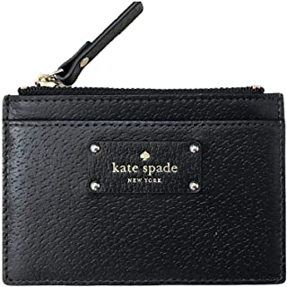 New York Adi Grove Street Pebbled Leather Card Wallet Coin Purse