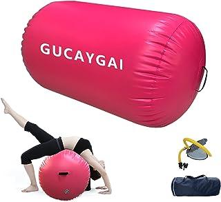 Air Roller Air Spot Gymnastics Mat Inflatable Tumbling Mat Air Block With foot pump for Home Use/Training Cheerleading/Yog...