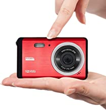 $38 » Mini Camera for Kids, Vmotal 12MP 3.0 inch TFT LCD Screen Rechargeable Digital Camera, Starter Camera Student Camera Point Shoot Camera, Lightweight Digital Camera for Children, (Red)