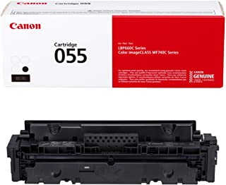 Canon Genuine Toner, Cartridge 055 Black (3016C001) 1 Pack, for Canon Color Image CLASS MF741Cdw, MF743Cdw, MF745Cdw, MF746Cdw,LBP664Cdw Laser Printers