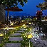 OVAREO Garten Solarleuchten,Led Lichterkette 120 Led Solar Feuerwerk Lichter Glitzernde Sternenlichter Solarbetrieben Lichterkette mit 8 Modi Waterproof Für Hochzeit Festival Party Garten Dekoration