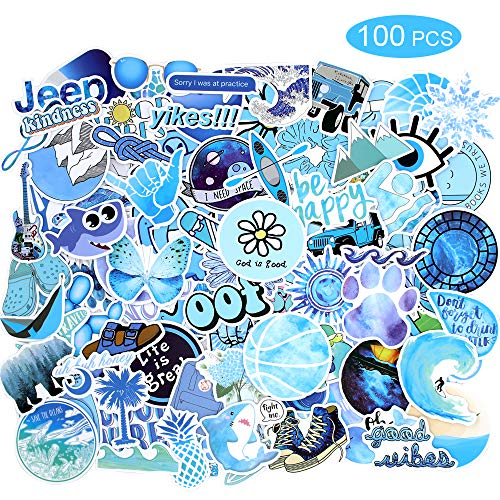100 Stks Sticker Pack Vinyl Kawaii Sticker voor Laptop Waterflessen Bagage Skateboard PS4 Xbox One Telefoon Auto Volwassen Tieners Jongens en Meisjes Waterdicht Bule 100