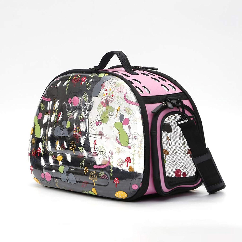 Pet Bag, Portable Breathable Cat Dog Pet Out Bag Dog Cage Pet Carrying Bag Cat Carrying Bag Cat (color   Pink)