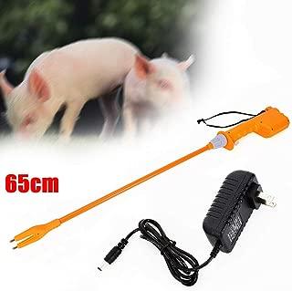 Animal Electric Prod Hot Shock, 65CM 8000V Electric Rechargeable Hand Prod Shock Animals Livestock Farm Pig Cattle Prod Safety Shock Prodder with Battery (USA Stock) (65CM)