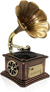 $380 » DSWHM Exquisite and Elegant Vintage Retro Classic Gramophone Phonograph Shape Stereo Speaker Sound System Music Box Flash ...
