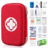 SOMA First Aid Kit 130 Piece Emergency Kit 19 in 1 Durable Nylon...