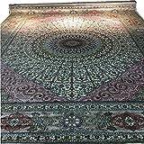 Alfombra de seda hecha a mano pura de 2,7 m x 3,6 m, diseño...