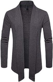 Gocgt Mens Kimono Cardigan Jacket Chinese Style Seven Sleeves Open Front Coat