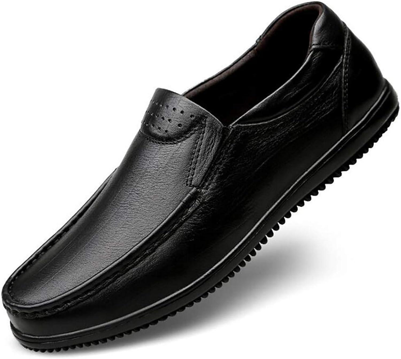 Men's Leather shoes New Men's shoes Soft Casual shoes Breathable Fashion shoes Abrasion Resistant (color   B, Size   38)