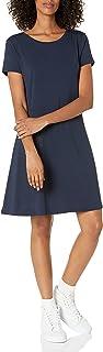 Amazon Essentials Vestido de manga corta con cuello redondo para mujer