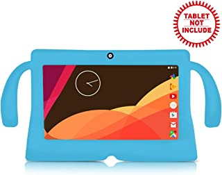 """iNoni Kid-Proof Case for iNoni Kids Tablet 7"""" Inch Shockproof Silicone Handle Stand Protective Cover (Blue)"""