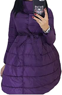 Howely Women Thick Mid Long Pure Colour Winter Warm Tunic Jacket Coat
