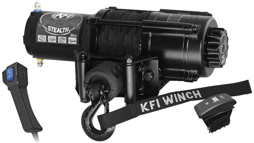 New KFI Stealth Edition 4500 lbs. A surprise price is realized New products, world's highest quality popular! Winch Synthetic Rope Model