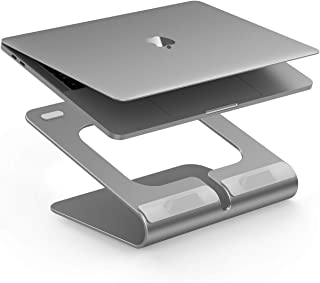 LENTION 360° Rotating L2 Laptop Notebook Stand, Laptop Raiser for Desk with Swivel Base Compatible with MacBook Pro/Air, Surface Laptop and More, 11.6-15.6 Inches Notebooks - Space Gray
