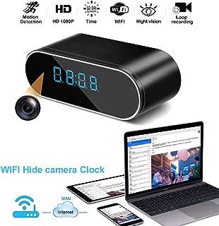 Luxnwatts Hidden Camera Clock WiFi Spy Camera Alarm Clock HD 1080P Surveillance Camera Home Security Monitor Nanny Cam with Night Version