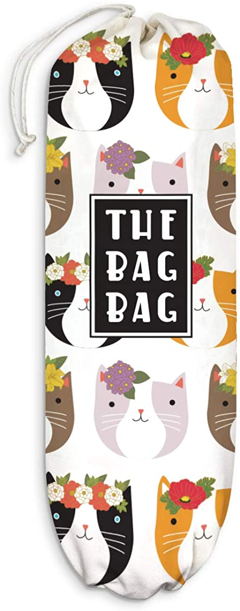 Fancy Floral Limited time sale Cats Plastic Bag Shoppi Pattern Ranking TOP15 Holder Grocery