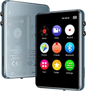 """Bluetooth MP3 Player, Music Player with Extendable Storage 128GB, HiFi Lossless Sound, 2.4"""" Full Touch Screen,Portable Wal..."""