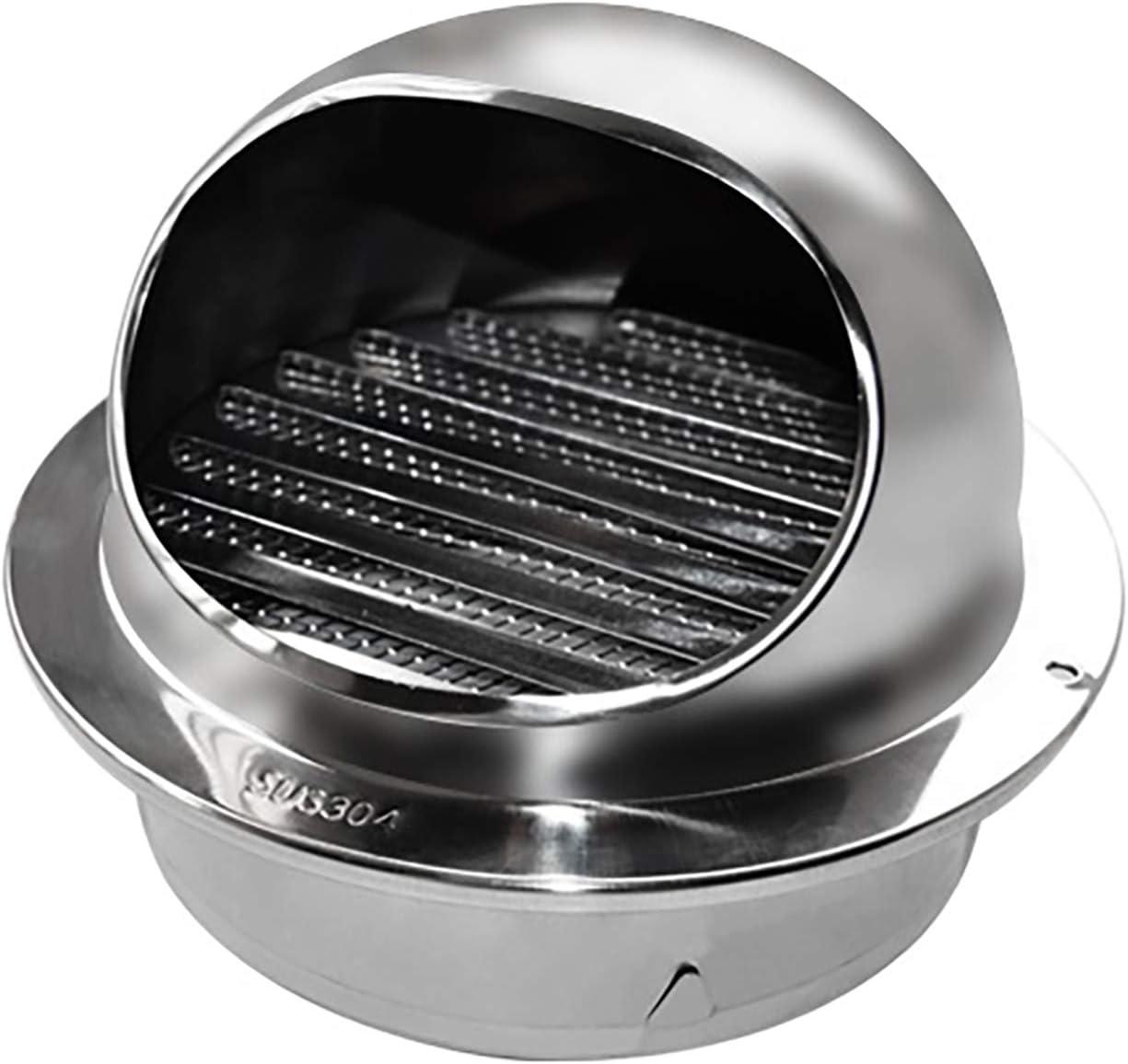 Ventilación de ventilación Ventilación de aire Redondo Cubierta de rejilla de acero inoxidable Ventilación de pared Capucha toro tino extractor externo Pared para cocina y baño (Ø80-160mm),120mm