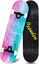 ANDRIMAX Skateboards-Complete Skateboards for Beginners Kids Boys Girls Adults Youth-Standard Skateboards 31''x8'' with 7 ...