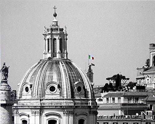 Un Top Di Roma - 8 X 10 Premium Gallery Canvas Wrap Print Black and White (A Top of Rome)