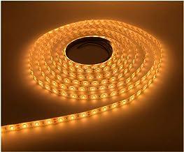 LEDMY Flexible LED Strip Light, DC12V Tape Lights, 2400K Strip Lights, 300 LEDs SMD2835 16.4ft/5m Light Strip,Easy Waterpr...