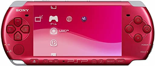 Sony PlayStation Portable (PSP) 3000 Series Handheld Gaming Console System – Red (Renewed)