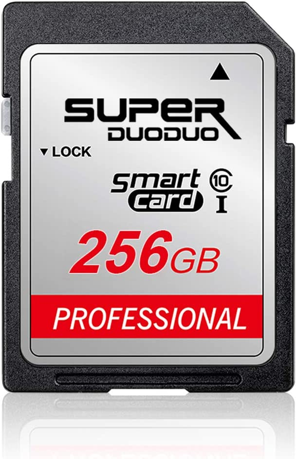 256GB SD Card Class 10 Memory Card High Speed TF Card for Cameras and Others Compatible Devices (256GB)