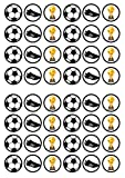 48 Fútbol #2 comestible premium grosor de vainilla dulce, oblea, papel de arroz para magdalenas/decoraciones