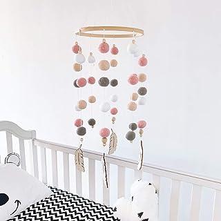 Carillon à vent mobile pour bébé - Mobile - Carillon à vent nordique - Pour garçons et filles - En feutre - Accessoire pho...