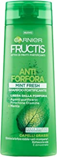 Garnier Fructis - Champú anticaspa mentol Fresh anticaspa y antibacteriano 250 ml
