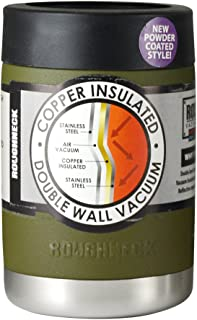 Olive Green Powder Coated Roughneck Vacuum Sealed Copper Insulated Stainless Steel Cups (12 oz Can/Bottle Insulator)
