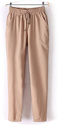 better-caress OL Chiffon Harem Pants Women Fashion High Waist Female Casual Elastic Waist Trousers