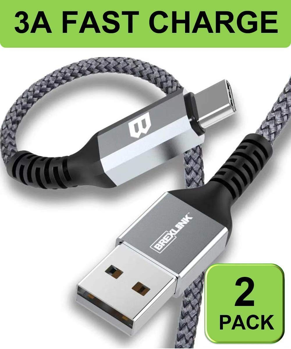BrexLink Cable USB Tipo C Carga Rapida [2M,2Pack], Tipo C Cargador ...