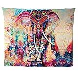 Hailicare 150x130cm Psychedelic Elefant Blume Tapisserie