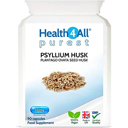 Psyllium Husk 30 x 750mg CapsulesNatural Colon Cleansing BowelUK Made V