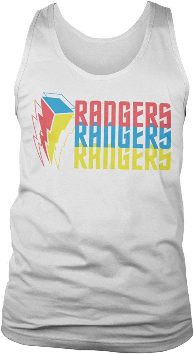 Power Rangers Officially Max 58% OFF Licensed Tritone Top Max 49% OFF Mens Ves Tank Logo