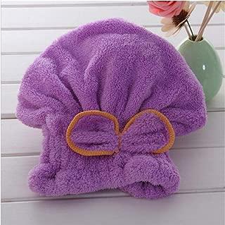 Yangfeng Magic Turban Dry Shower Microfiber Hair Wrap Coral Towel T Quick Drying Bath Spa Head Cap Hat C- Quick-drying towel