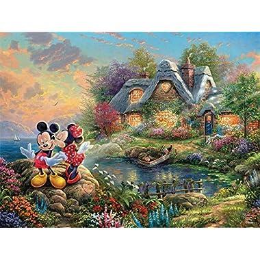 Ceaco Mickey and Minnie Mouse Thomas Kinkade Disney Jigsaw Puzzle - 750 Pieces