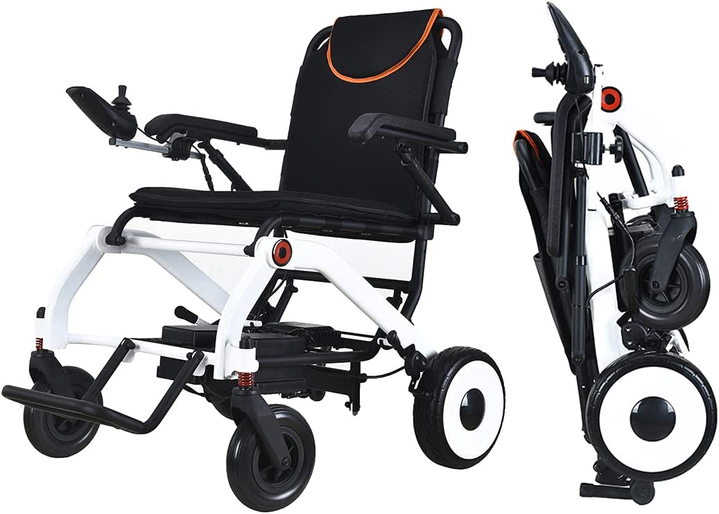 Electric Wheelchair Portable 2021 Folding Full Aluminum famous Alloy Frame 3