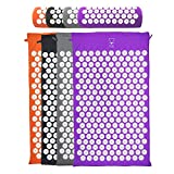 Base yoga Acupressure mat/acupuncture mat for Massage/Wellness/Relaxation and tension release (Purple)