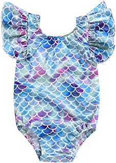 Baby//Toddler Girl Swimsuit Long Sleeve one-Piece Tronet Fruit Print Beach Swimwear Hat Clothes Set