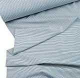 Doppelmoppel Bio Jersey Stoff Streifen Ringel blau grau,