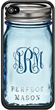 Personalized Blue Mason Jar iPhone Case by Sherrys Stock TM (iPhone 6 6s)
