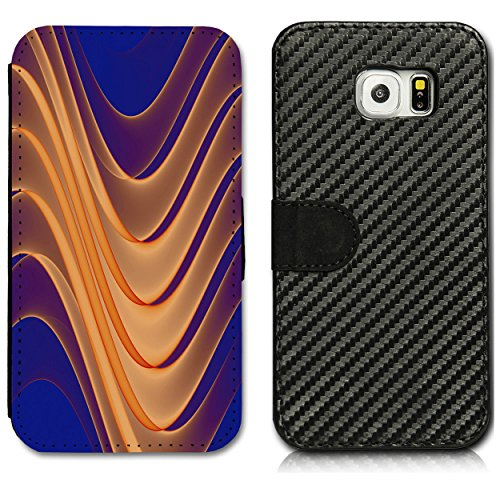Boekstijl carbon flip mobiele telefoon case cover motief foto etui voor Samsung Galaxy S3 Mini VE i8200N - selectie flip CB7 designkeuze, Samsung Galaxy S3 Mini i8190, design 12